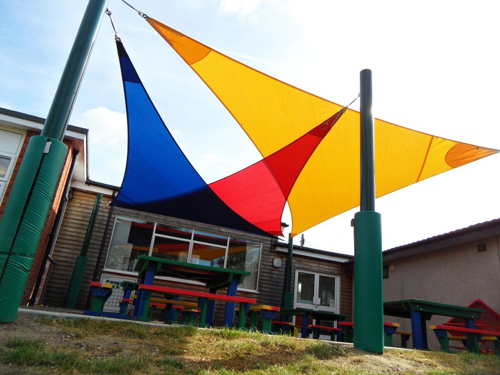 Overlapping Triangle Shade Sails