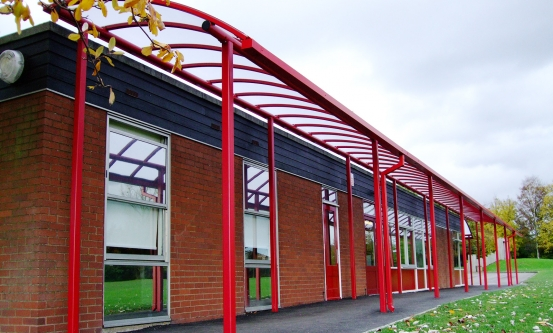 School Canopy Red