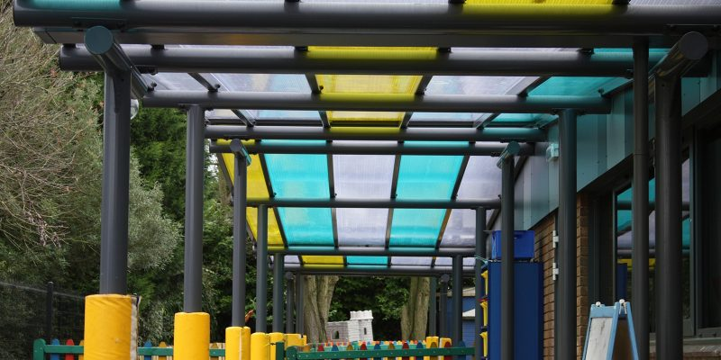 Bespoke Coloured Roof Canopy