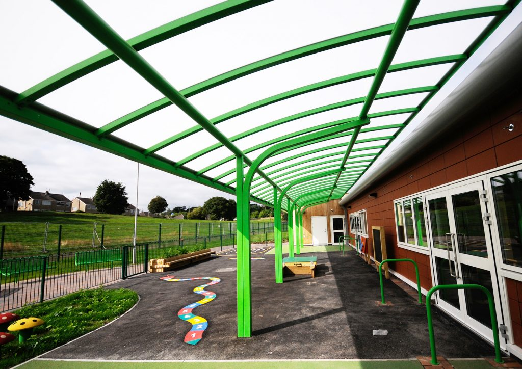 Green Cantilever Canopy