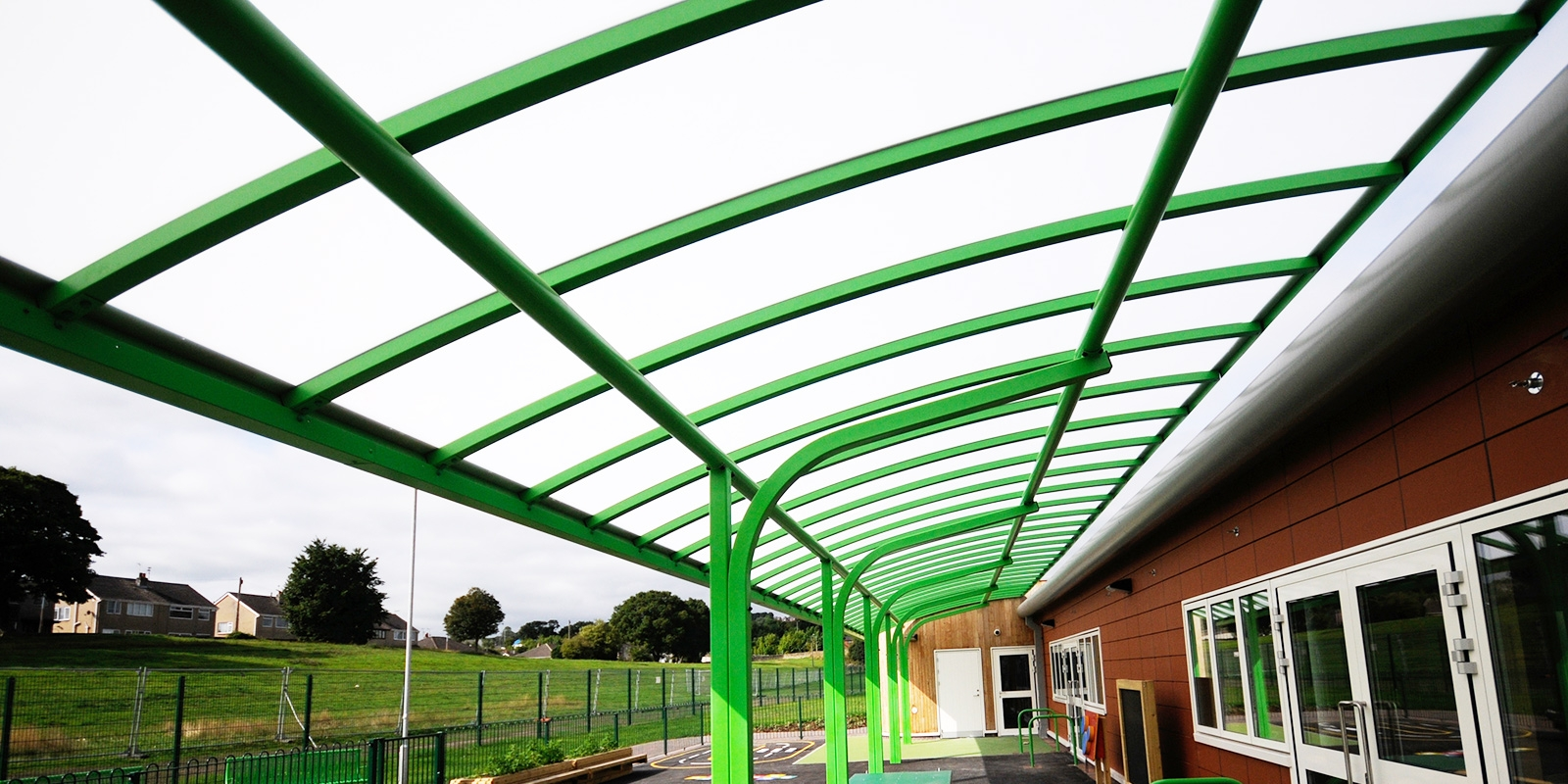 Green Cantilever School Canopy